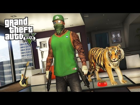 GTA 5 Real Life Thug Mod #27 - BUYING A TIGER!! (GTA 5 Mods)
