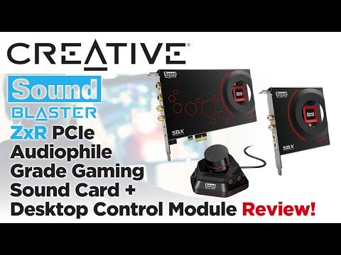 Creative Sound Blaster ZxR PCIe Gaming Sound Card + Desktop Control Module Review!