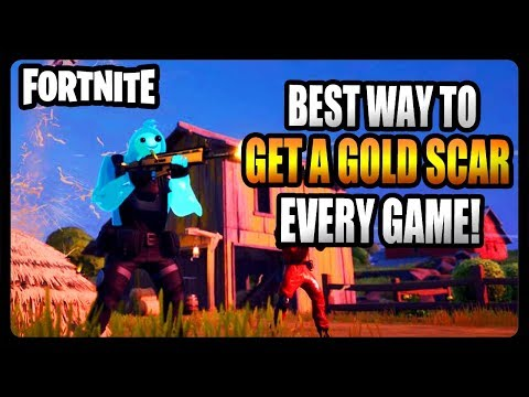 HOW TO GET A GOLD SCAR EVERY GAME IN FORTNITE CHAPTER 2! (Fortnite Chapter 2)