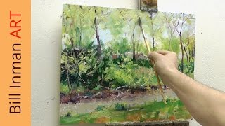 Art Class Oil Painting Demo Spring River - Muncie, Indiana