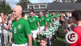 The Republic of Ireland Over 40s soccer team at Dunmanway