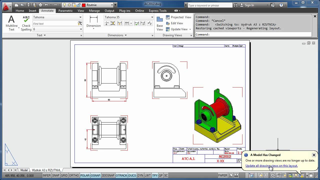 how to draw 3d in autocad 2012