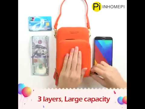 INHOMEPI Women Cellphone Crossbody Shoulder Bag Small Pouch Wallet