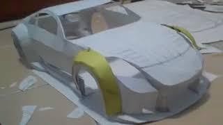 Как сделать модель машины из бумаги(Nissan 350z)