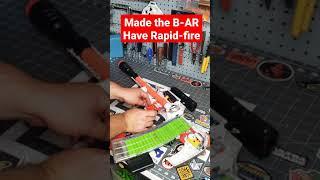 Test Firing the Modded Full Auto Nerf Fortnite B-AR #shorts