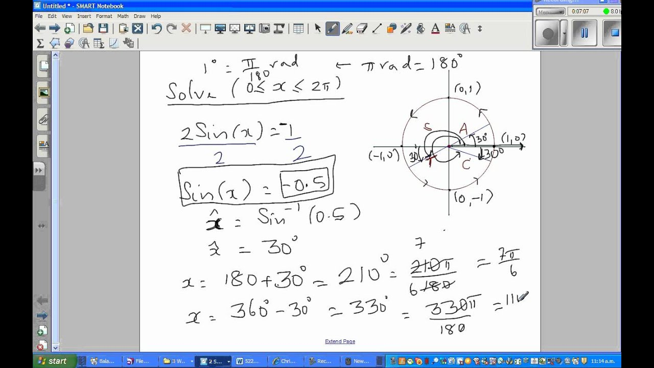 Solving trig equation using cast part 2 youtube solving trig equation using cast part 2 pooptronica Choice Image