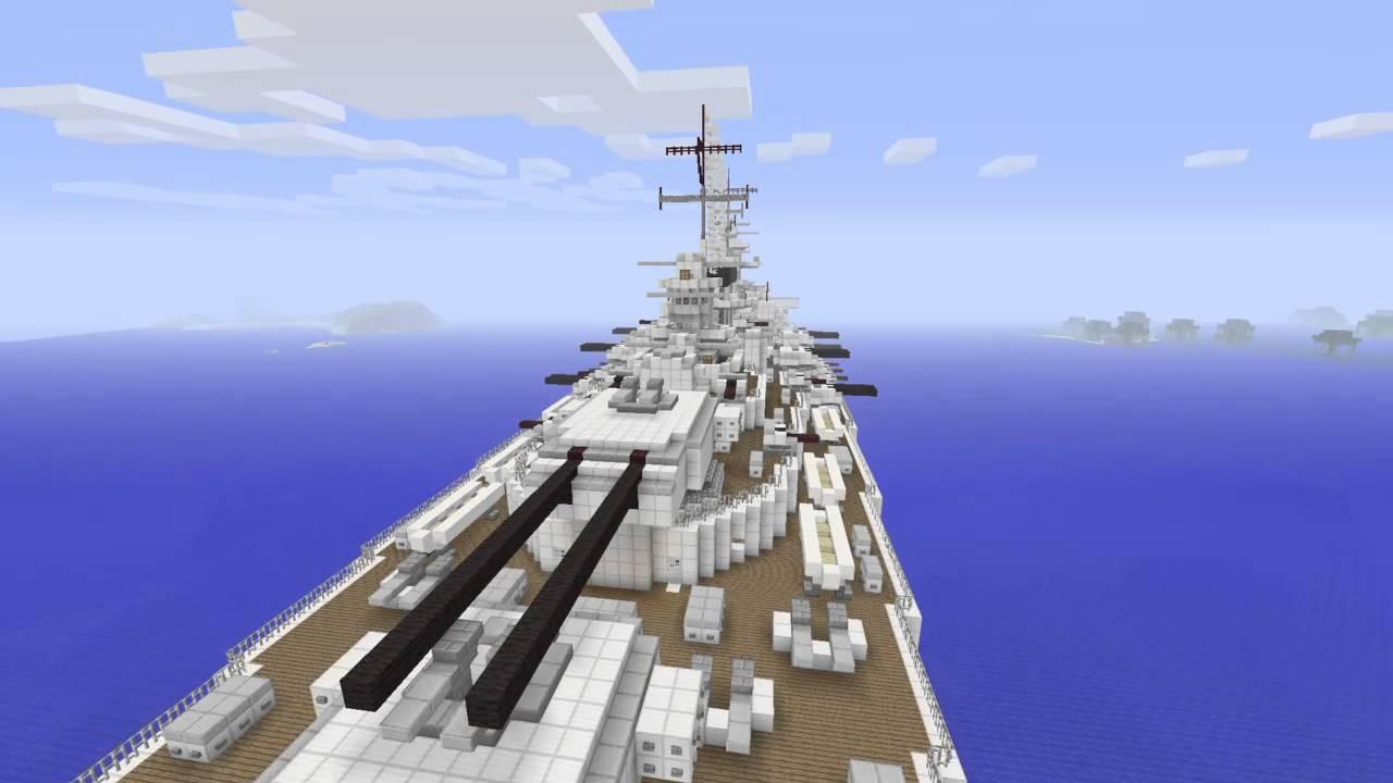 Minecraft: H44 German Battleship Mega build - YouTube