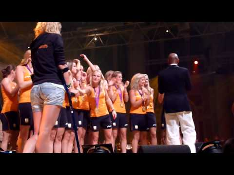 Huldiging Hockey meiden: Holland Heineken House 10 augustus