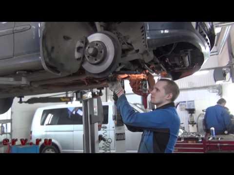 Ремонт нижних рычагов передней подвески на Mercedes Benz W211. Ремонт передней подвески на Мерседес
