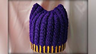 Шапка крпючком для начинающих. Hat crochet for beginners