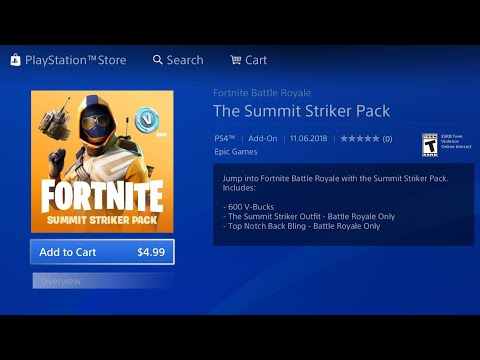 HOW TO DOWNLOAD NEW FORTNITE SUMMIT STRIKER STARTER PACK! NEW FREE FORTNITE SUMMIT STRIKER PACK