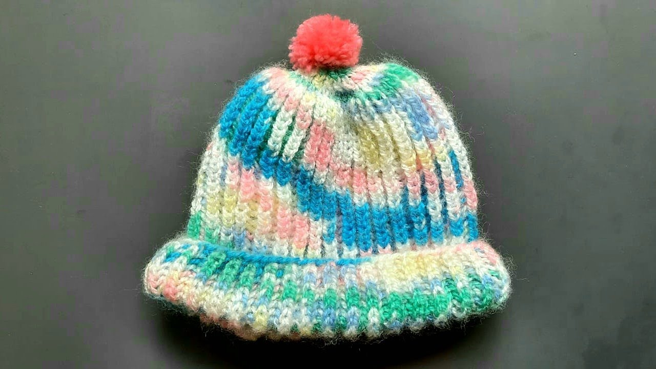 Complete knitting tutorial  For 6 months to 1 year old Baby   Knitting Cap   Bunai   Topi
