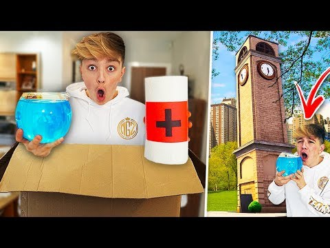 I Mailed Myself in a Box to TILTED TOWERS & It Worked! (Fortnite In Real Life)