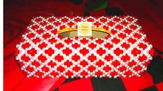 পুতির টিস্যু বক্স পার্ট-১/How To Make Beads Tissue Box/DIY BEADED TISSU BOX/135k special video