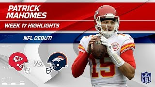 Every Play from Patrick Mahomes on His NFL Debut! | Chiefs vs. Broncos | Wk 17 Player Highlights thumbnail