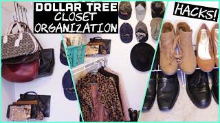 Dollar Tree Closet Organization HACKS
