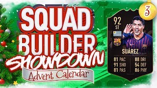 """DAY 3 OF THE COUNTDOWN TO CHRISTMAS!!! The Fifa 19 Squad Builder Showdown Advent Calendar brings us the """"Ultimate TOTW"""" inform Luis Suarez! #Fifa19 #SquadBuilderShowdown #Advent  DAY 4 IS GOING TO BE HERE - https://www.youtube.com/user/mavricwolves  THE ADVENT PLAYLIST!!! - https://www.youtube.com/playlist?list=PLxfJ2Zy-rRkB9nsHhaWCbAK2HuJ8BH-Pr  BECOME A MEMBER OF THE CHANNEL - https://www.youtube.com/channel/UC9QqBypELbqUVlsg4zMrN0Q/join  MERCH - https://aj3clothing.com/  ★ Follow me on Twitter - https://twitter.com/AJ3 ★  ✯Subscribe to my """"plays"""" channel - https://www.youtube.com/AJ3Plays ✯  ☆ Sub to my Vlog channel - https://www.youtube.com/AndyCastell ☆  ☆ Follow me on Instagram - https://instagram.com/AndyCastell/ ☆  Make sure you subscribe for more Fifa 19 and football videos!!! This is the home of Squad Builder Showdown, FUT Drafts, real life football videos and more!!!"""