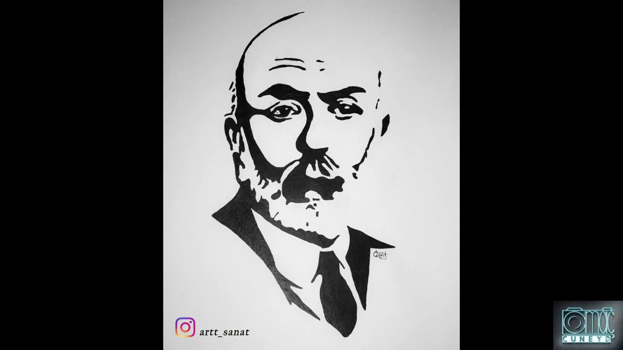Mehmet Akif Ersoy Portre çizimi Youtube