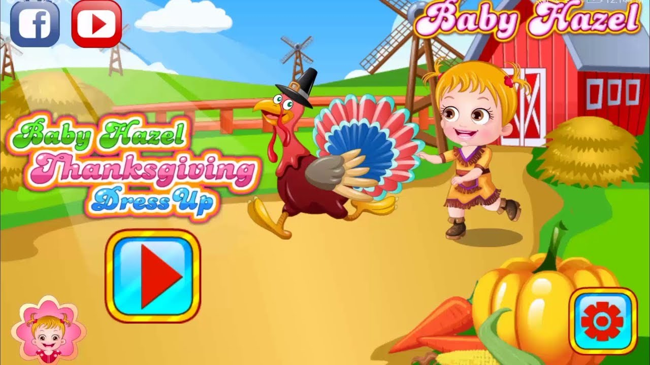 Thanksgiving Dress Up Game | Fun Game Videos By Baby Hazel Games - YouTube