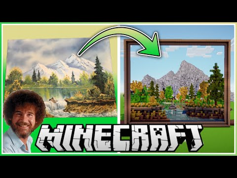 Someone made a Bob Ross painting in 'Minecraft' and it's absolutely delightful