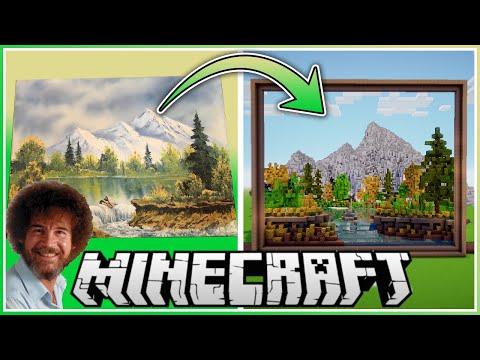 Video: Dieser YouTuber hat ein Bob Ross-Gemälde in Minecraft nachgebaut - VICE