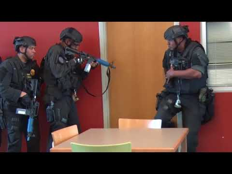 New Orleans Police perform active shooter training at Monogh 35