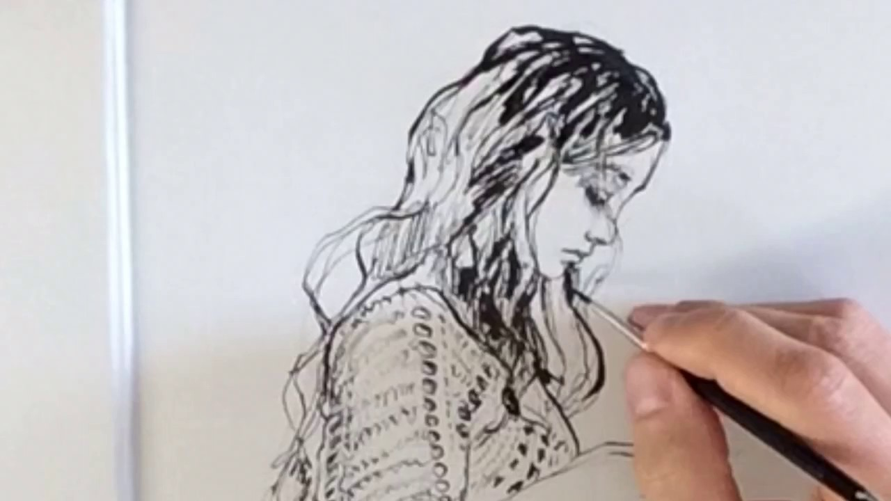 Pen Art Figure Drawing