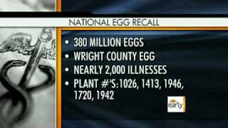 Salmonella Tainted Eggs Recall Expanded