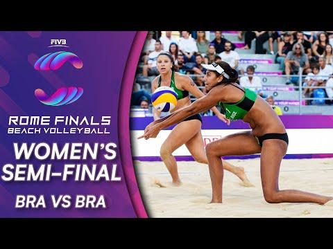 Women's Semi-Final: BRA Vs. BRA   Beach Volleyball World Tour Finals Rome 2019