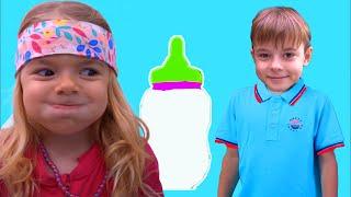 Anabella a spus minciuni   Little kids pretend play fun kid video   Sketch Bogdan Show