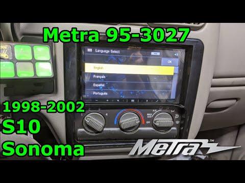 1998-2002 S10 Blazer Sonoma | Double DIN Install | Metra 95-3027 | Alpine ILX-W650
