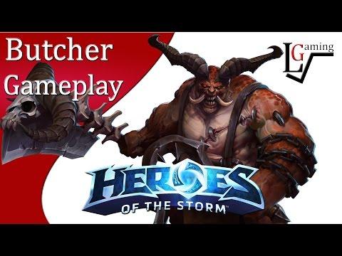 Heroes of the Storm - Butcher Gameplay on Battlefield of Eternity (Mayhem Begins)