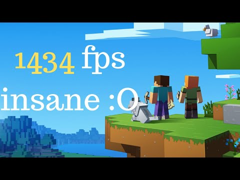 Minecraft a 1434 FPS