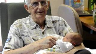 "Great-grandpa John with baby John, singing ""Muffin Man"" kids song"