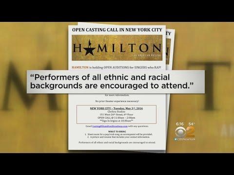 'Hamilton' Open Auditions