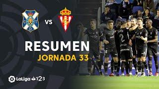 Resumen de CD Tenerife vs Real Sporting (0-1)