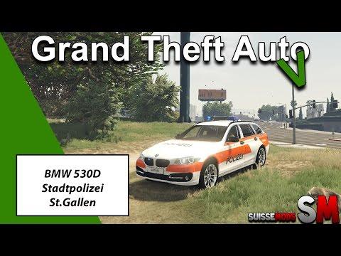 BMW 530D Stadtpolizei St.Gallen | Gta V © Suisse Mod's