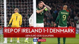 Draw forces ROI to Euro play-off | Republic of Ireland 1-1 Denmark | Euro 2020 Qualifiers