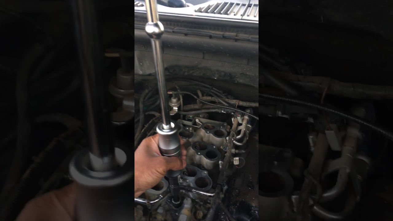 Ford f broken water coolant outlet tube pipe
