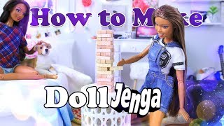 DIY - How to Make: Doll Jenga | Family Game Night Doll Craft EASY
