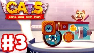 Video CATS: Crash Arena Turbo Stars - Gameplay Walkthrough Part 3 - Metal Parts and Spending Gems! (iOS) download MP3, 3GP, MP4, WEBM, AVI, FLV Maret 2018