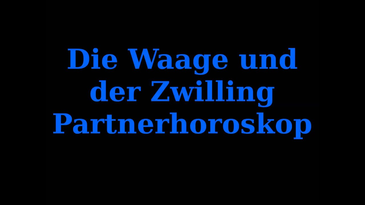 die waage und der zwilling youtube. Black Bedroom Furniture Sets. Home Design Ideas