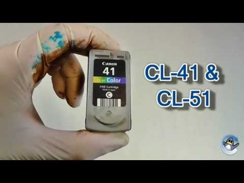 How To Refill Canon CL-41 & CL-51 Tri-Colour Fine Ink Cartridges