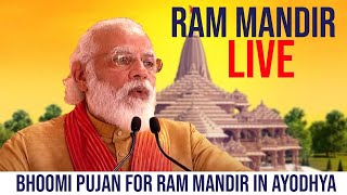 Ram Mandir Live - PM Modi Speech LIVE | Ayodhya Ram Mandir Bhumi Pujan | TFPC
