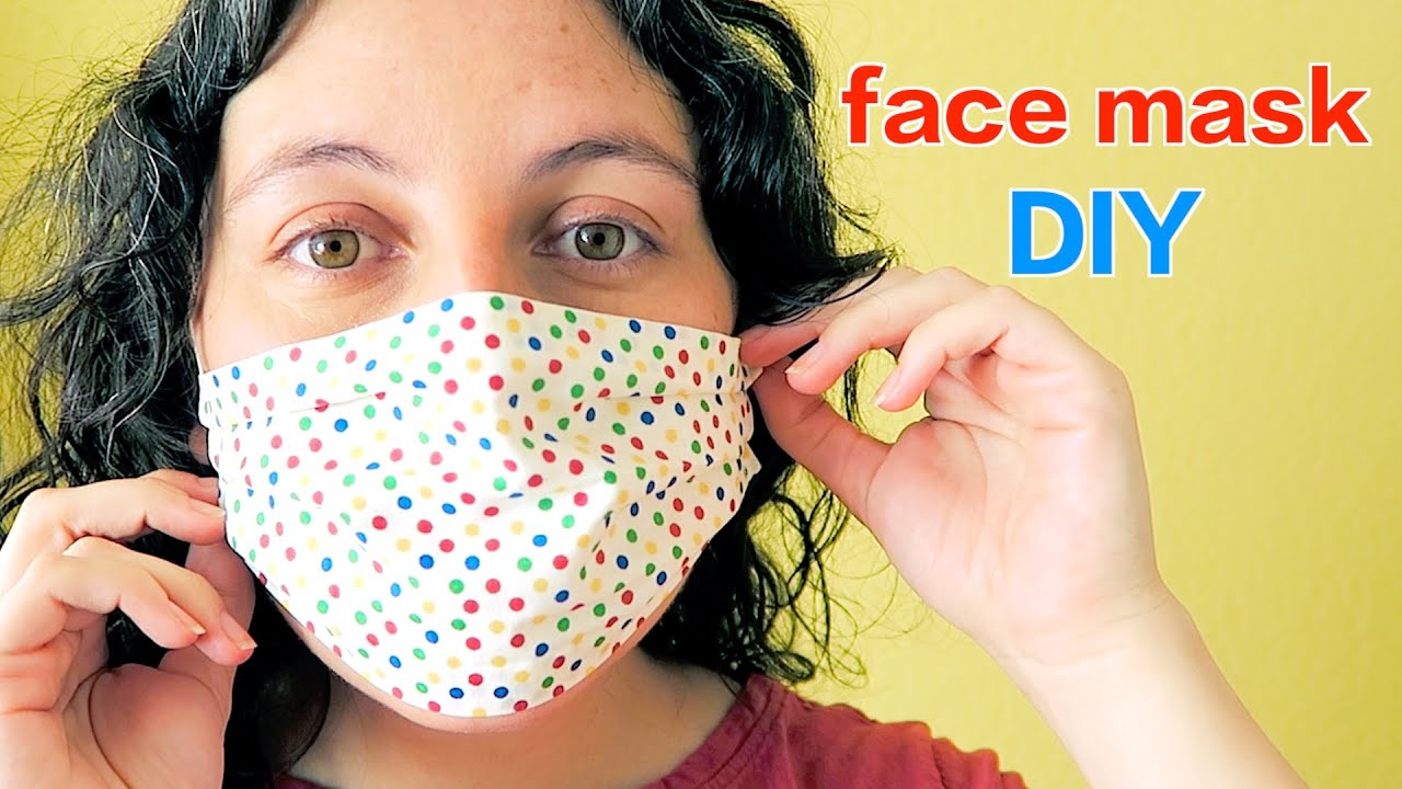 Diy How To Make A Cloth Face Mask Youtube