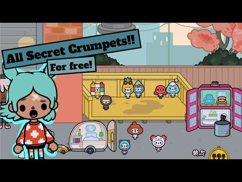 Toca Life World   How to get ALL the Secret Crumpets for FREE!!