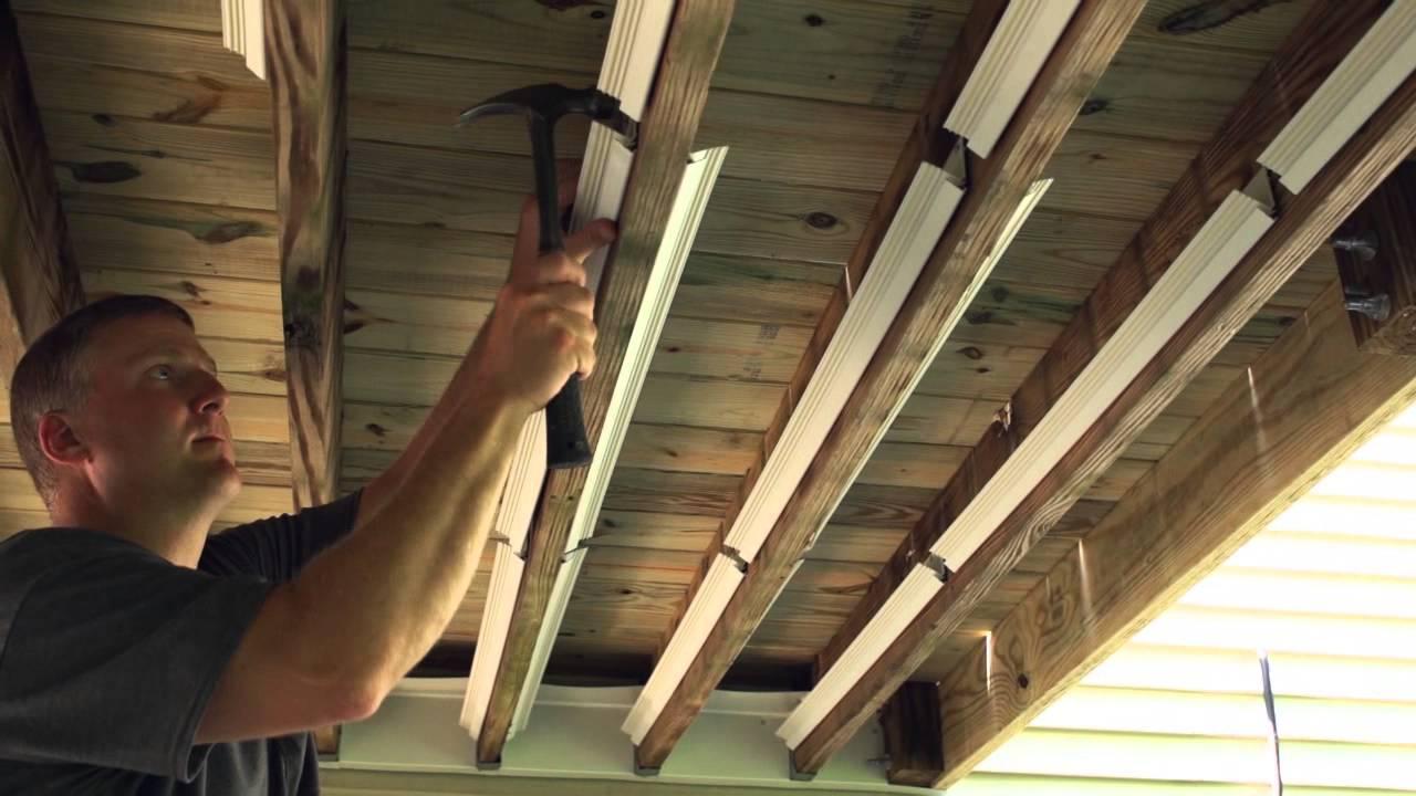 UnderDeck The Original Outdoor Ceiling Installation 15