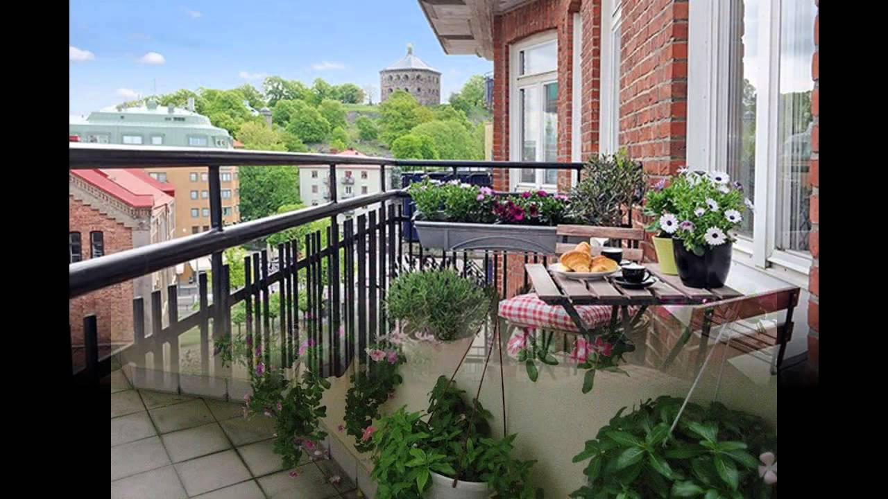Garden Ideas Small balcony garden design YouTube