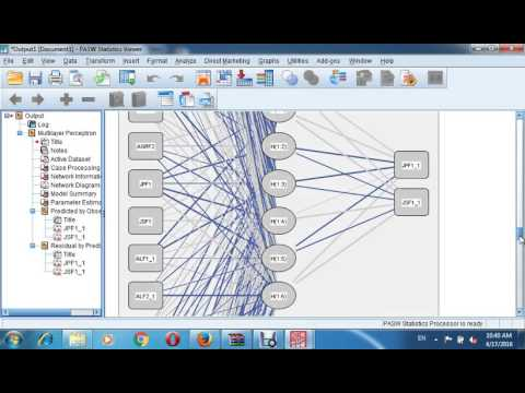 Tutorial NEURAL NETWORK in course Multivariate Data Analysis