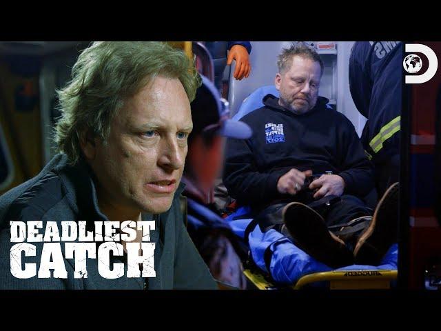 Norman Hansen's Scary Injury   Deadliest Catch